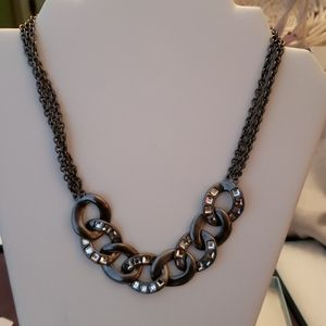 Necklace by Touchstone crystal by Swarovski